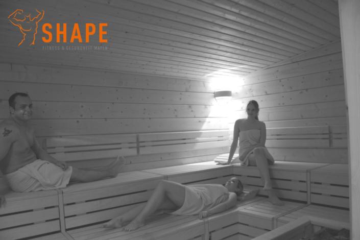 relaxen in der Sauna nach dem Training