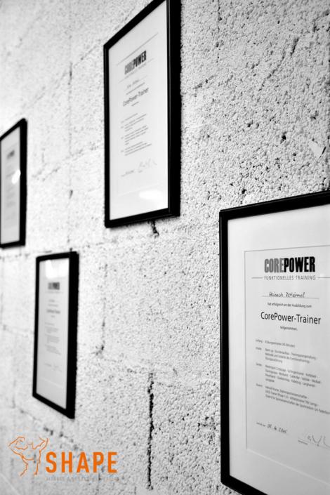 die Corepower Urkunden